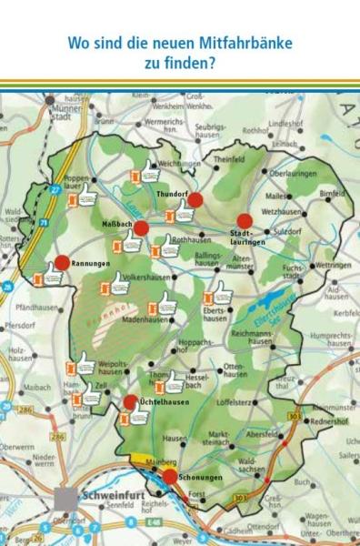 Standorte Mitfahrbank Schweinfurter OberLand